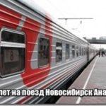 Билет на поезд Новосибирск Анапа