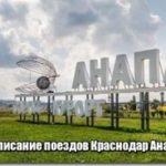 Расписание поездов Краснодар Анапа
