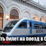 Купить билет на поезд в Сочи — цена и расписание поезда Москва Сочи