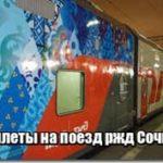 Билеты в Сочи на поезд цена ржд