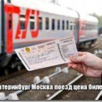 Поезд Екатеринбург Москва расписание, цена билета ржд