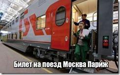 Билет на поезд Москва Париж