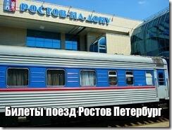 Билеты поезд Ростов Петербург