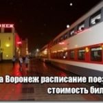 Скорый поезд Москва Воронеж цена