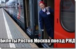 Билеты Ростов Москва поезд РЖД