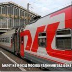 Билет на поезд Москва Калининград цена