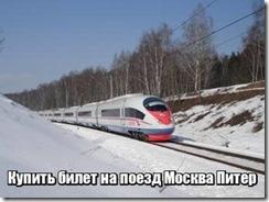Купить билет на поезд Москва Питер