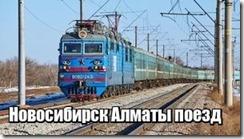 Новосибирск Алматы поезд