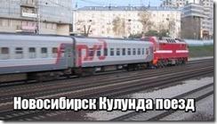 Новосибирск Кулунда поезд